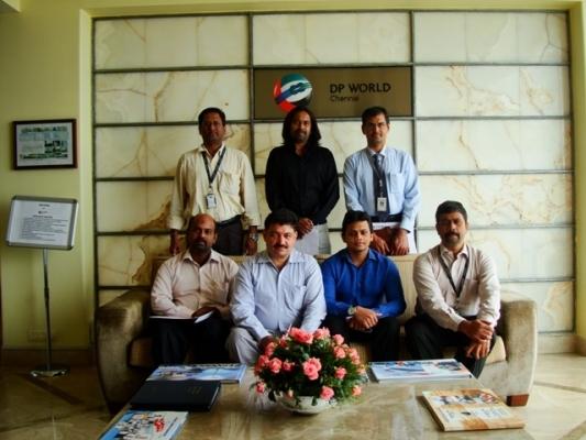 Delegates from Mitsubishi Elevator ETA India & Schenker India 24 Jul 13