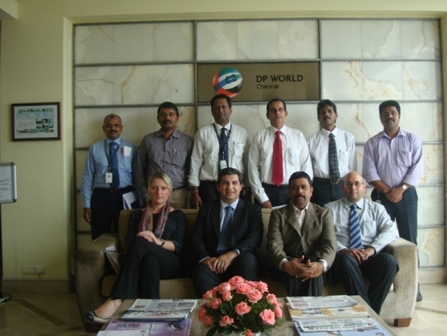 Delegates from CMA CGM on 1 Aug 13
